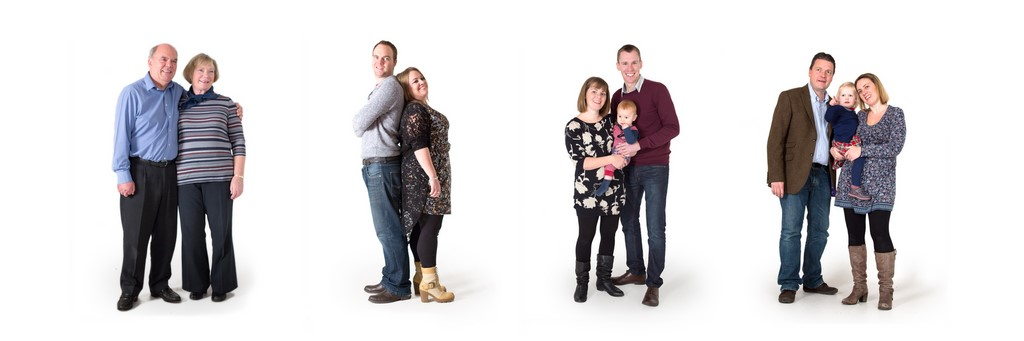 Family montage photographed by Pinner Portrait Photography at GP1 Photo Studios in Harrow MIddlesex