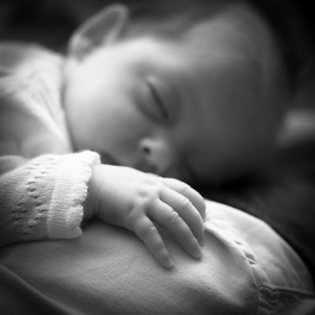 Black and White Baby portraits taken at your home by Pinner Portrait Photography